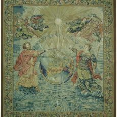 5′7″W x 6′4″H Religious Hand-woven French Aubusson Tapestry 12980964