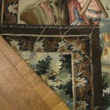 5′9″W x 4′7″H Hunting Scene Hand-woven French Aubusson Tapestry 12980921