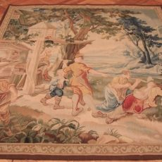 5′9″W x 6′7″H Hand-woven French Aubusson Tapestry 12980943