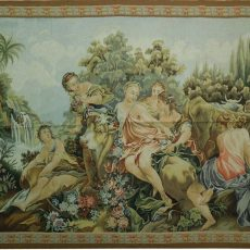 6′10″W x 5′2″H Angels Hand-woven French Aubusson Tapestry 12980933