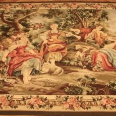 6′W x 5′H Hand-woven French Aubusson Tapestry 12980954