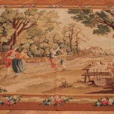7′1″W x 6′1″H Garden Feast Hand-woven French Aubusson Tapestry 12980951