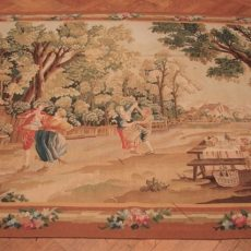 7′10″W x 6′1″H Garden Feast Hand-woven French Aubusson Tapestry 12980929