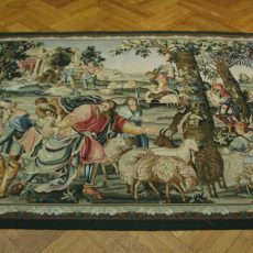 7′2″W x 5′2″H Hand-woven French Aubusson Tapestry 12980936