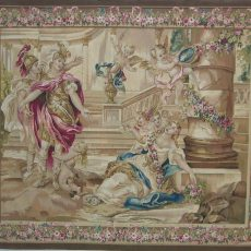 "7′4""W x 6′H Hand-woven French Aubusson Tapestry Wall Hanging 12980918"