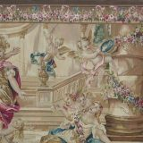 """7′4""""W x 6′H Hand-woven French Aubusson Tapestry Wall Hanging 12980918"""