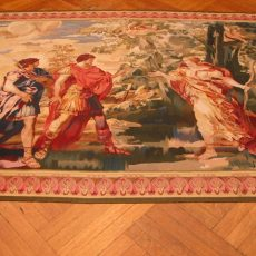7′6″W x 5′7″H Hand-woven French Aubusson Tapestry 12980947