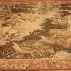 8′W x 6′1″H Verdure Hand-woven French Aubusson Tapestry 12980953
