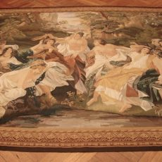 9′5″W x 7′6″H Angels Hand-woven French Aubusson Tapestry 12980956