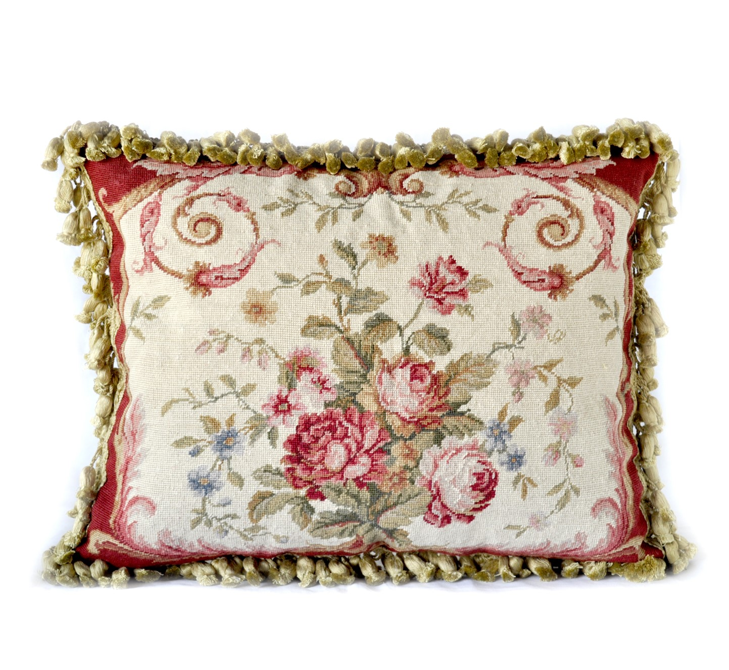 16″x20″ Needlepoint Rose Bouquet Pillow Cover 12980973