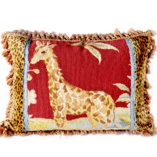 17″x23″ Needlepoint Giraffe Pillow Cover 12980976