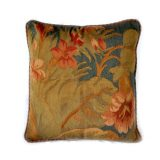 """18""""x18"""" Hand-woven French Gobelins Tapestry Weave Wool Aubusson Cushion Cover Pillow Case 12980977"""