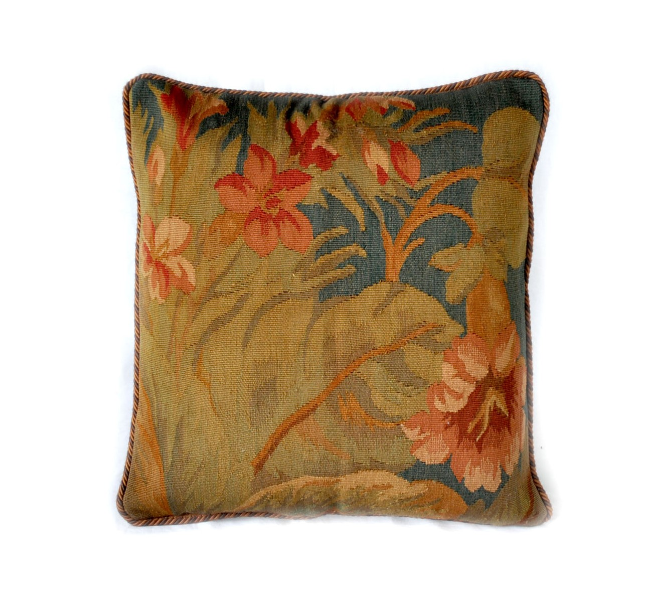 18″x18″ Hand-woven French Gobelins Tapestry Weave Wool Aubusson Cushion Cover Pillow Case 12980977
