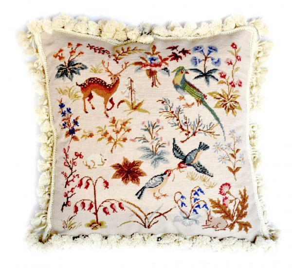 18x18 Bird Parrot Deer Bunny Wool Needlepoint Petitpoint Cushion Cover Pillow Case 12980981