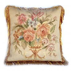 "20""x20"" Hand-woven Antique Reproduction French Gobelins Tapestry Weave Wool and Silk Aubusson Cushion Cover Pillow Case 12980979"
