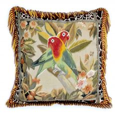 "22""x22"" Parrot Aubusson Pillow Cover 12980982"