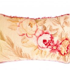 "11""x17"" Wool Needlepoint Rose Cushion Cover Pillow Case 12980995"