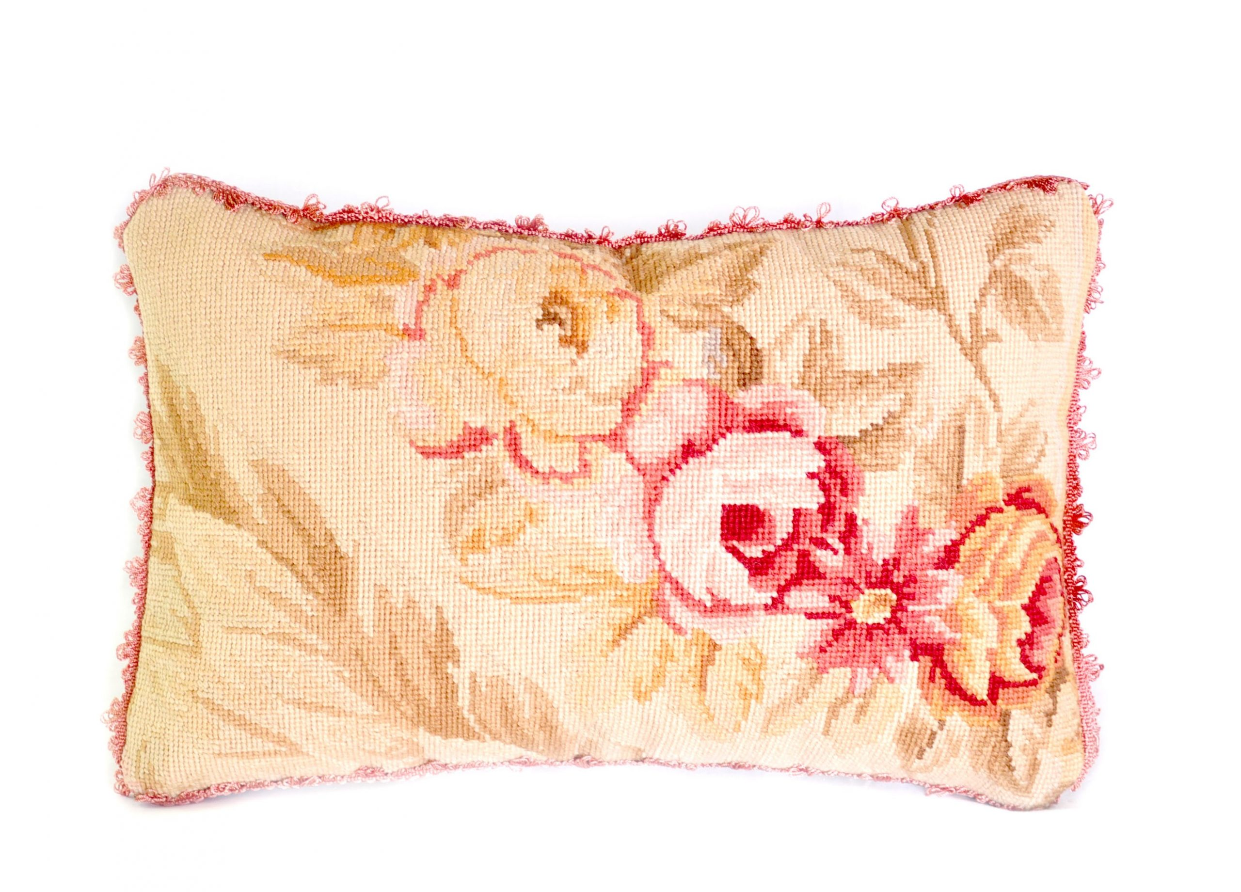 11″x17″ Wool Needlepoint Rose Cushion Cover Pillow Case 12980995