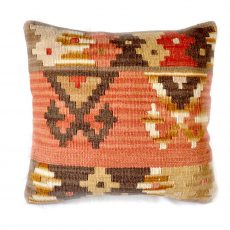 18x18 Hand-woven Wool Kilim Pillow Cover 12980983