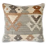 18x18 Hand-woven Wool Kilim Pillow Cover 12980984