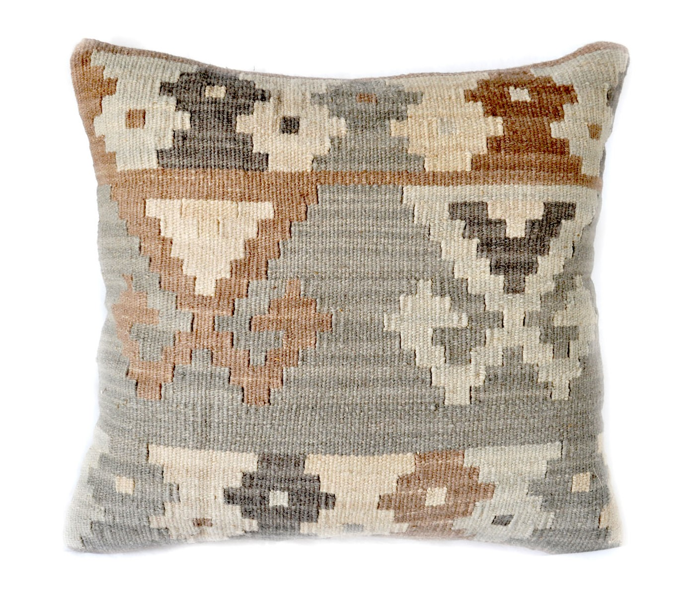 18×18 Hand-woven Wool Kilim Pillow Cover 12980984