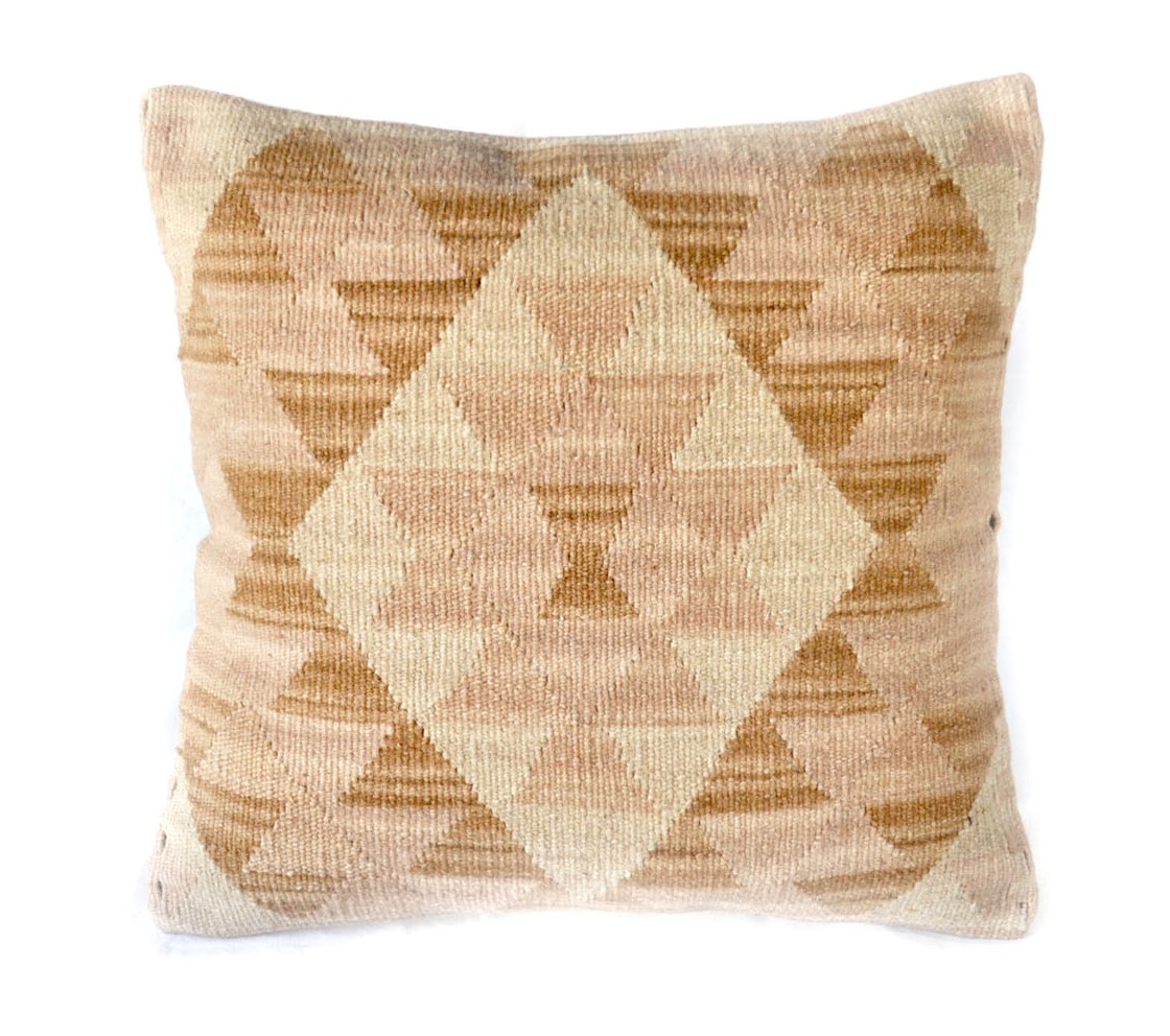 18″x18″ Hand-woven Wool Kilim Pillow Cover 12980985