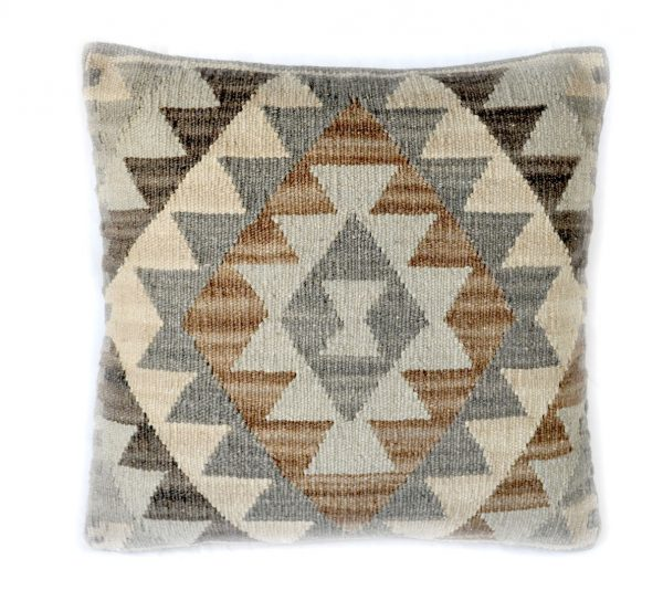 "18""x18"" Hand-woven Wool Kilim Pillow Cover 12980986"