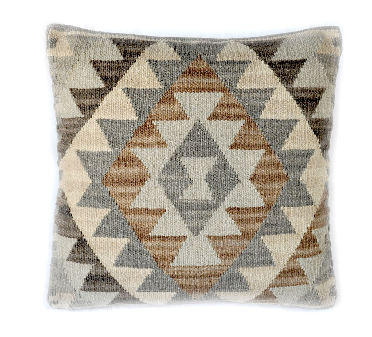 18″x18″ Hand-woven Wool Kilim Pillow Cover 12980986