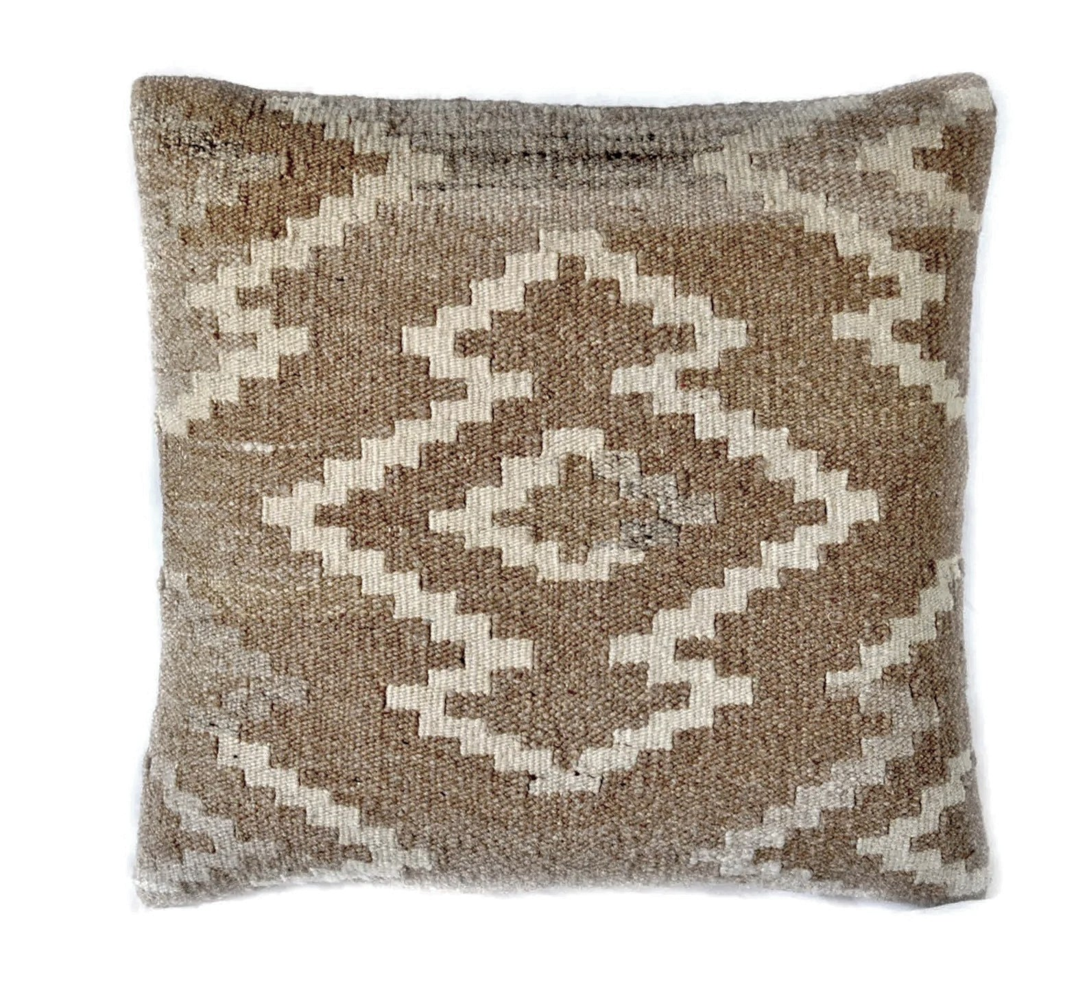 18″x18″ Hand-woven Wool Kilim Pillow Cover 12980987