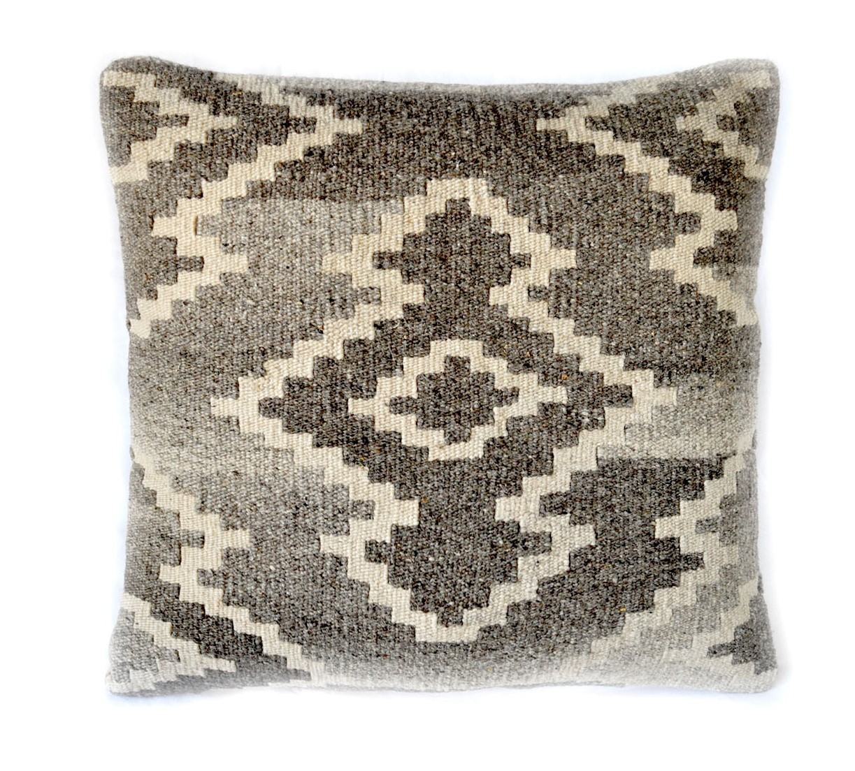 18×18 Hand-woven Wool Kilim Pillow Cover 12980988