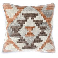 18x18 Hand-woven Wool Kilim Pillow Cover 12980989