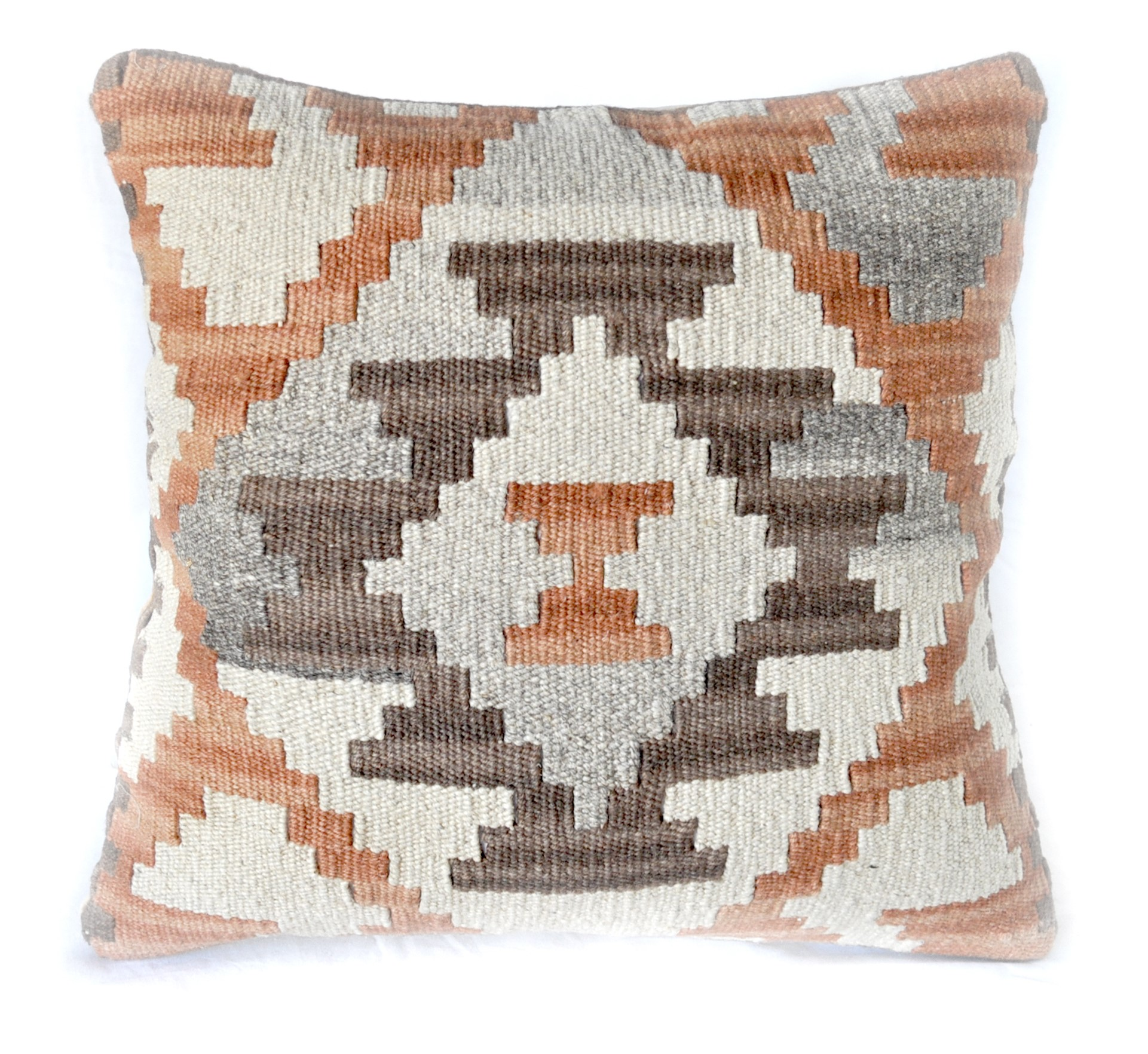 18×18 Hand-woven Wool Kilim Pillow Cover 12980989