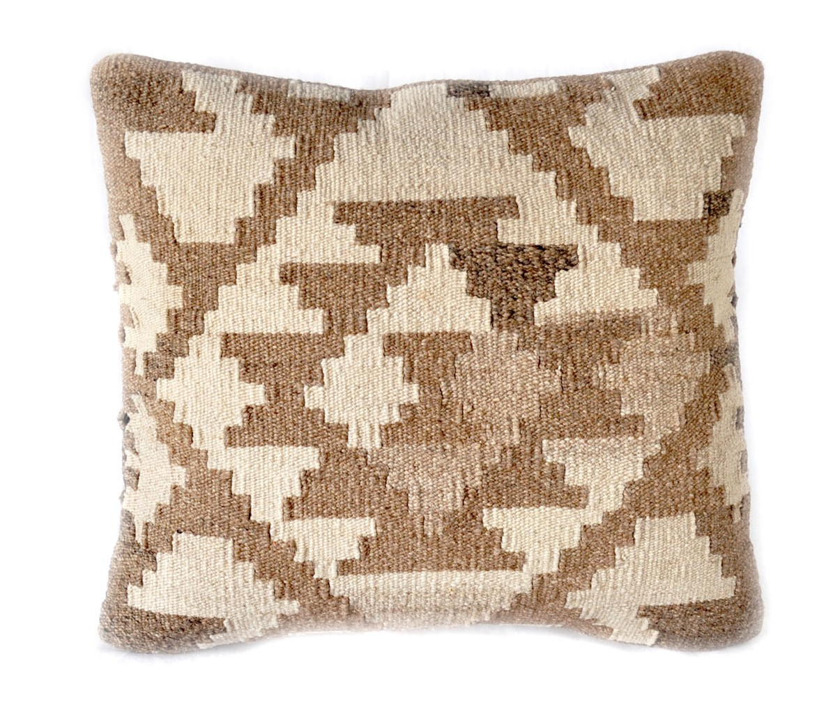 18×18 Hand-woven Wool Kilim Pillow Cover 12980991