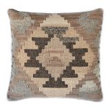 18x18 Hand-woven Wool Kilim Pillow Cover 12980992