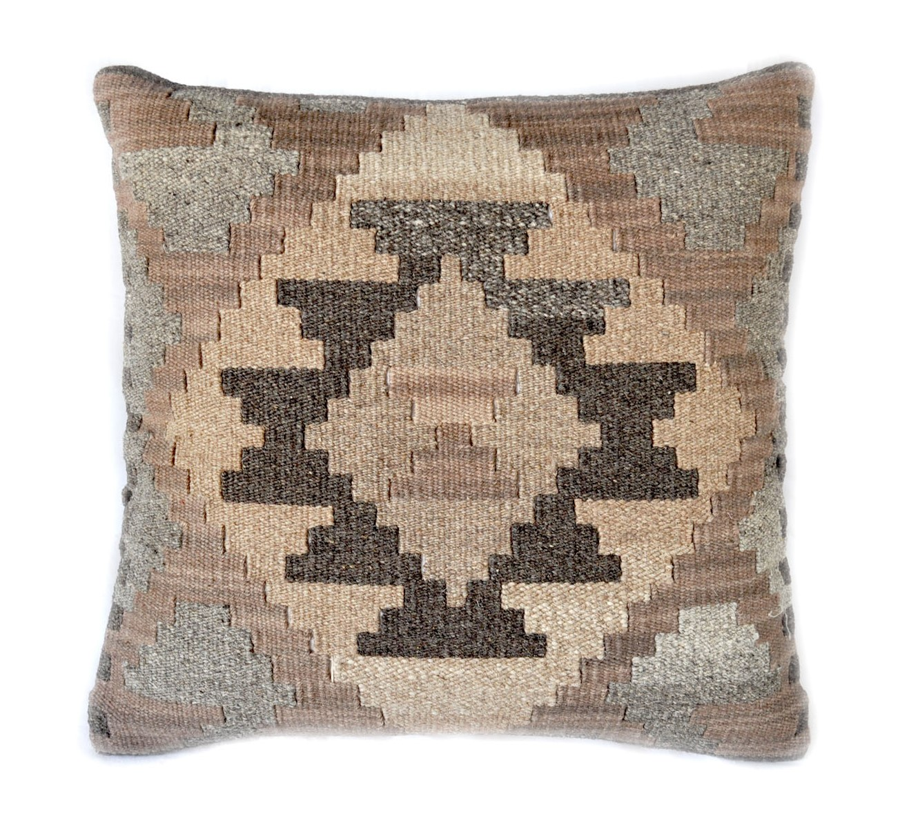 18×18 Hand-woven Wool Kilim Pillow Cover 12980992