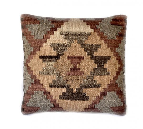 18x18 Hand-woven Wool Kilim Pillow Cover 12980993