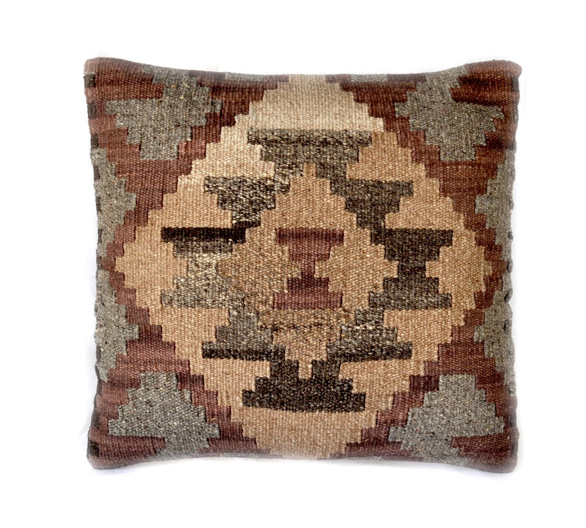 18×18 Hand-woven Wool Kilim Pillow Cover 12980993
