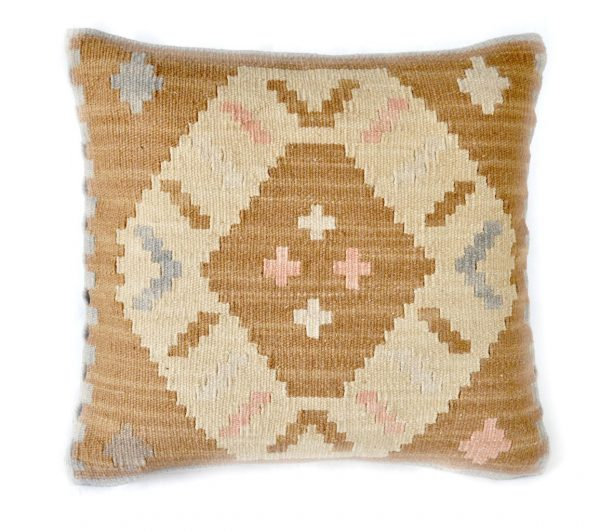 18x18 Hand-woven Wool Kilim Pillow Cover 12980994
