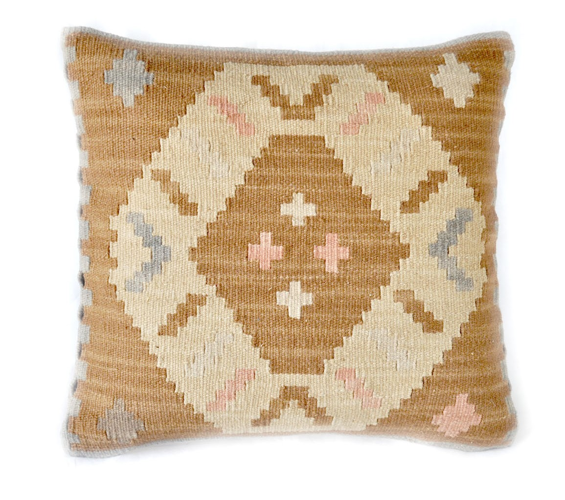 18×18 Hand-woven Wool Kilim Pillow Cover 12980994