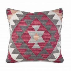 18x18 Hand-woven Wool Kilim Pillow Cover 12981033