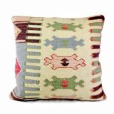 22x22 Hand-woven Wool Kilim Pillow Cover 12981034