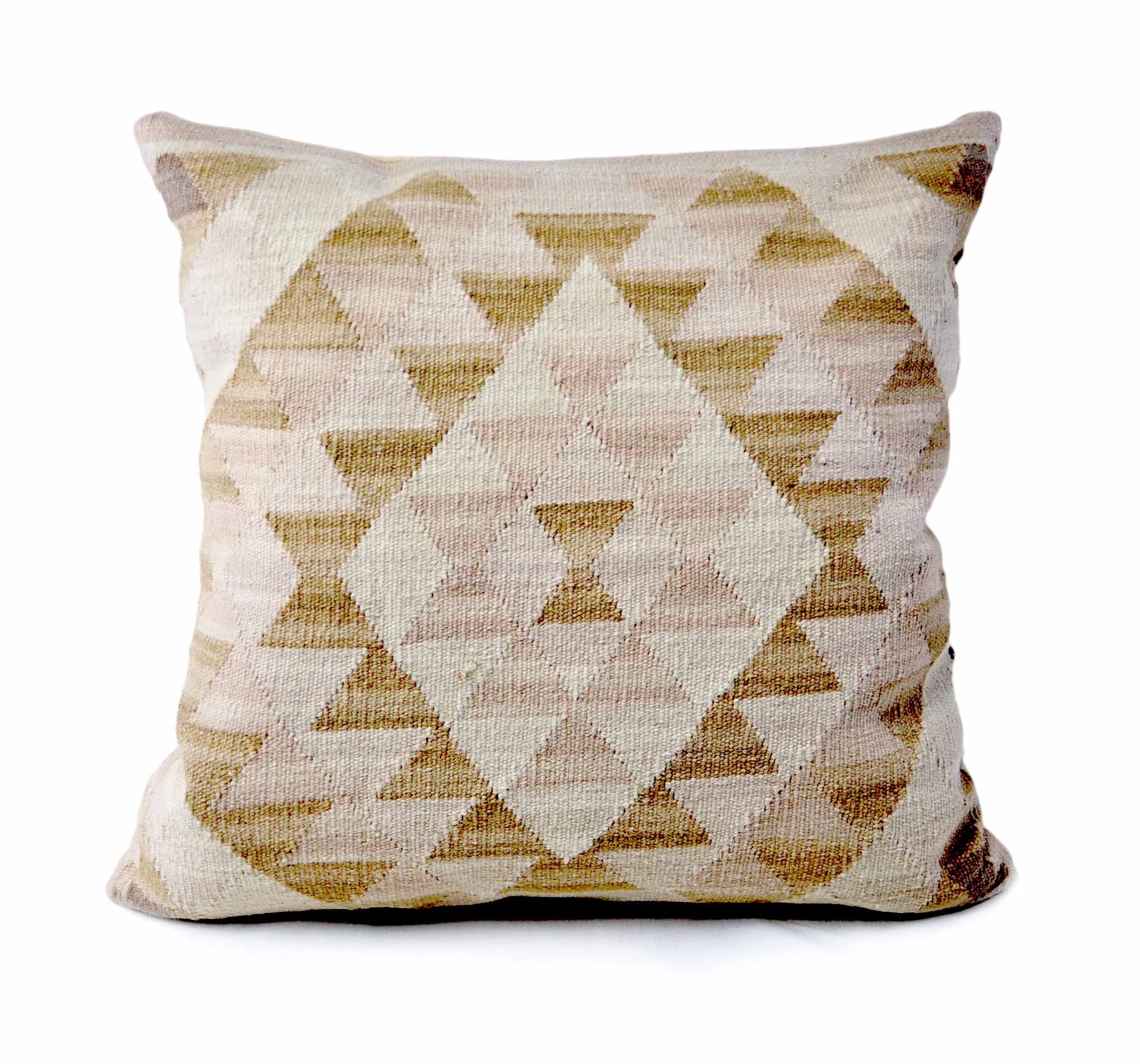 24×24 Hand-woven Wool Kilim Pillow Cover 12981028