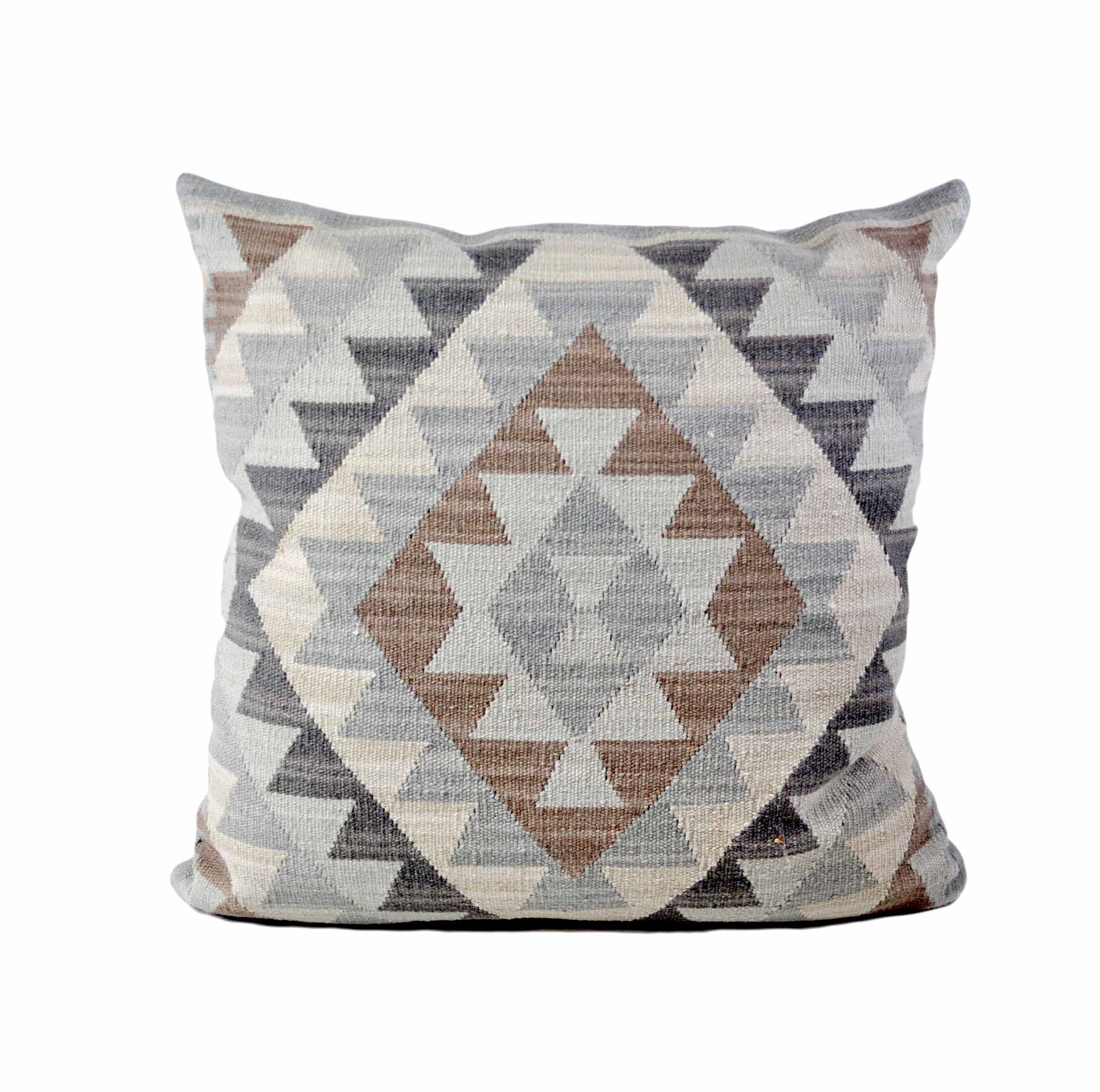 24×24 Hand-woven Wool Kilim Pillow Cover 12981029