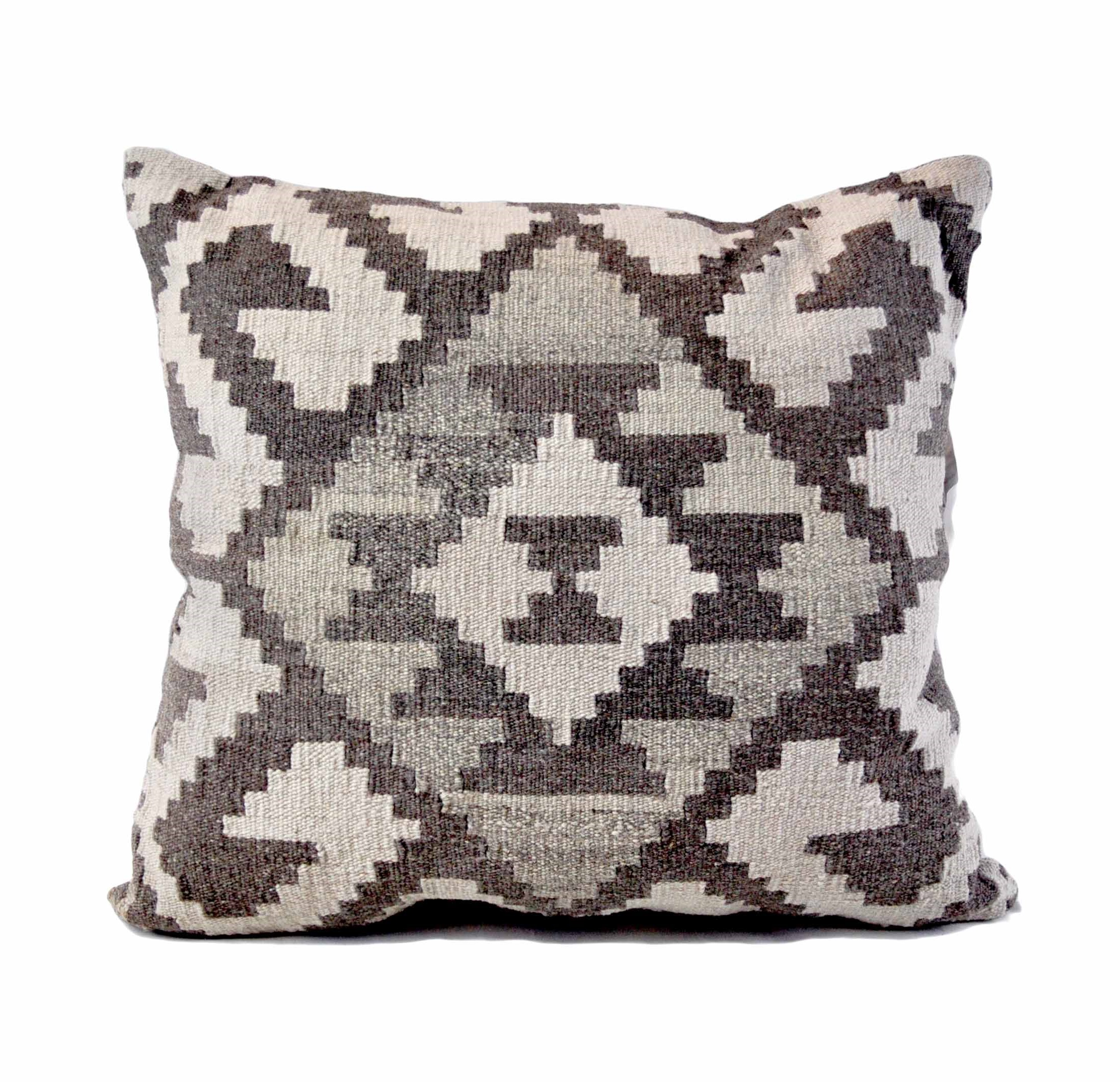 24×24 Hand-woven Wool Kilim Pillow Cover 12981030