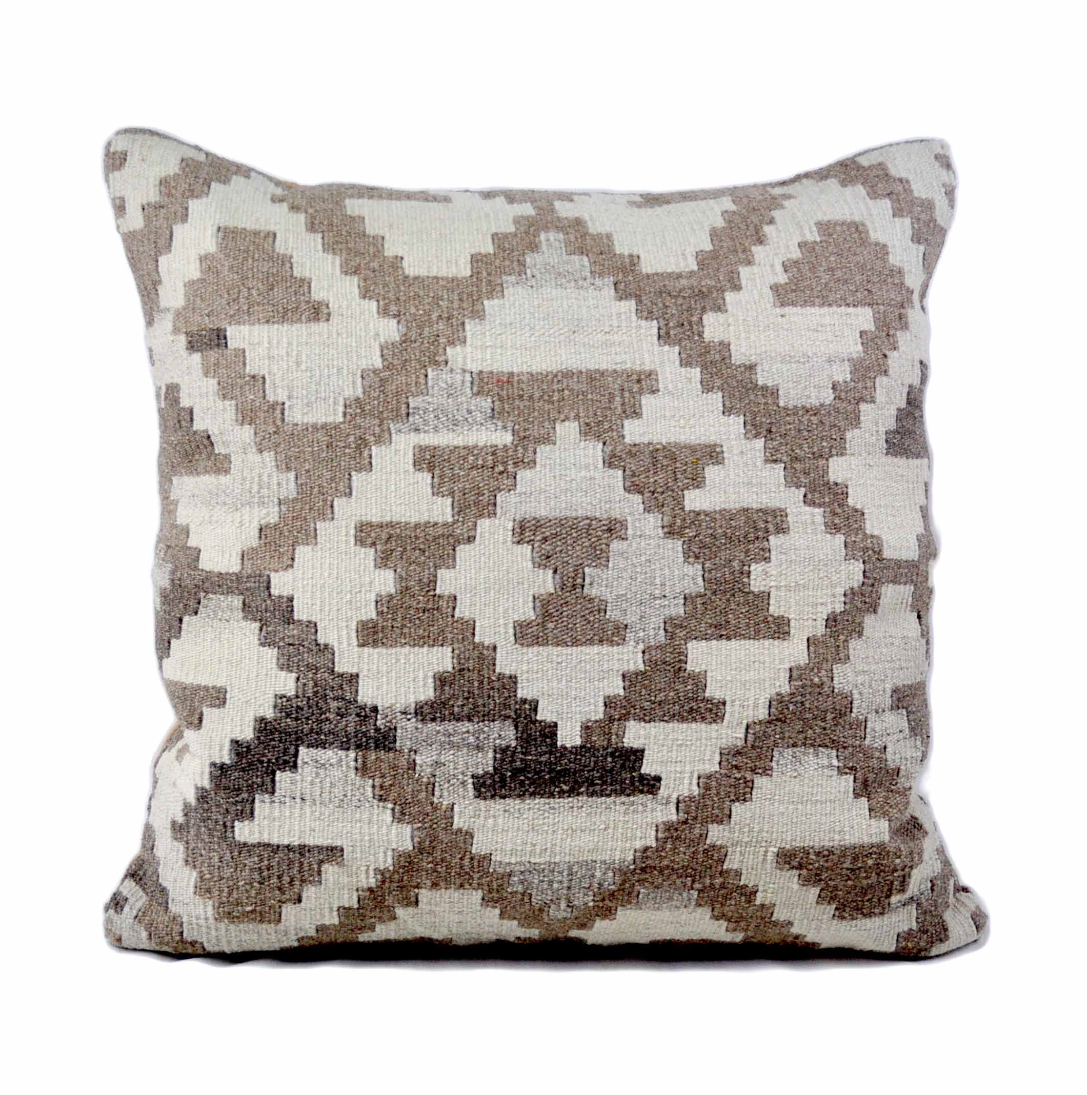 24×24 Hand-woven Wool Kilim Pillow Cover 12981032