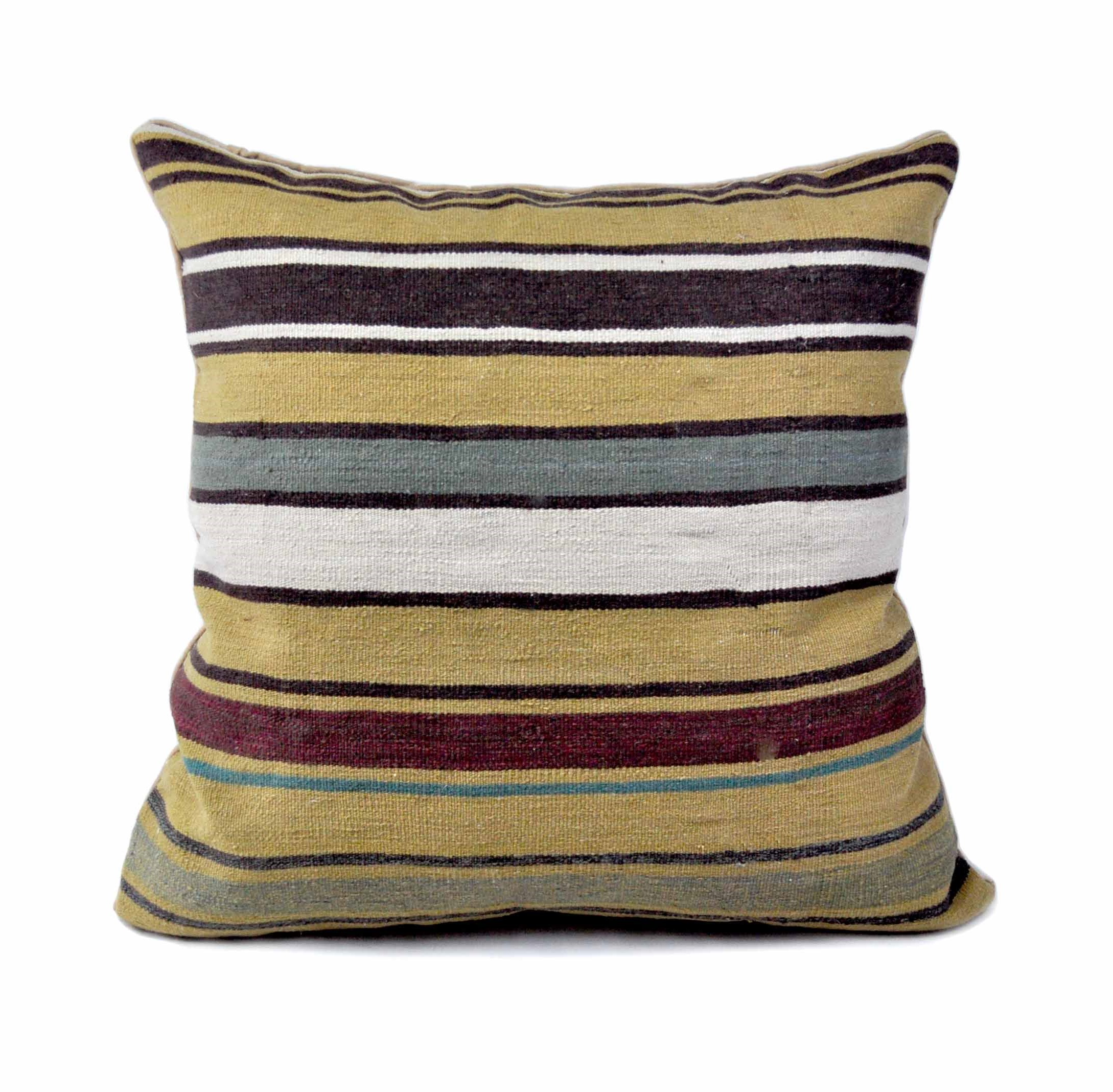 24″x24″ Hand-woven Wool Kilim Pillow Cover 12981035