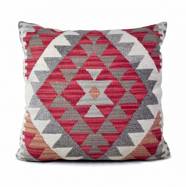 24x24 Hand-woven Wool Kilim Pillow Cover 12981037