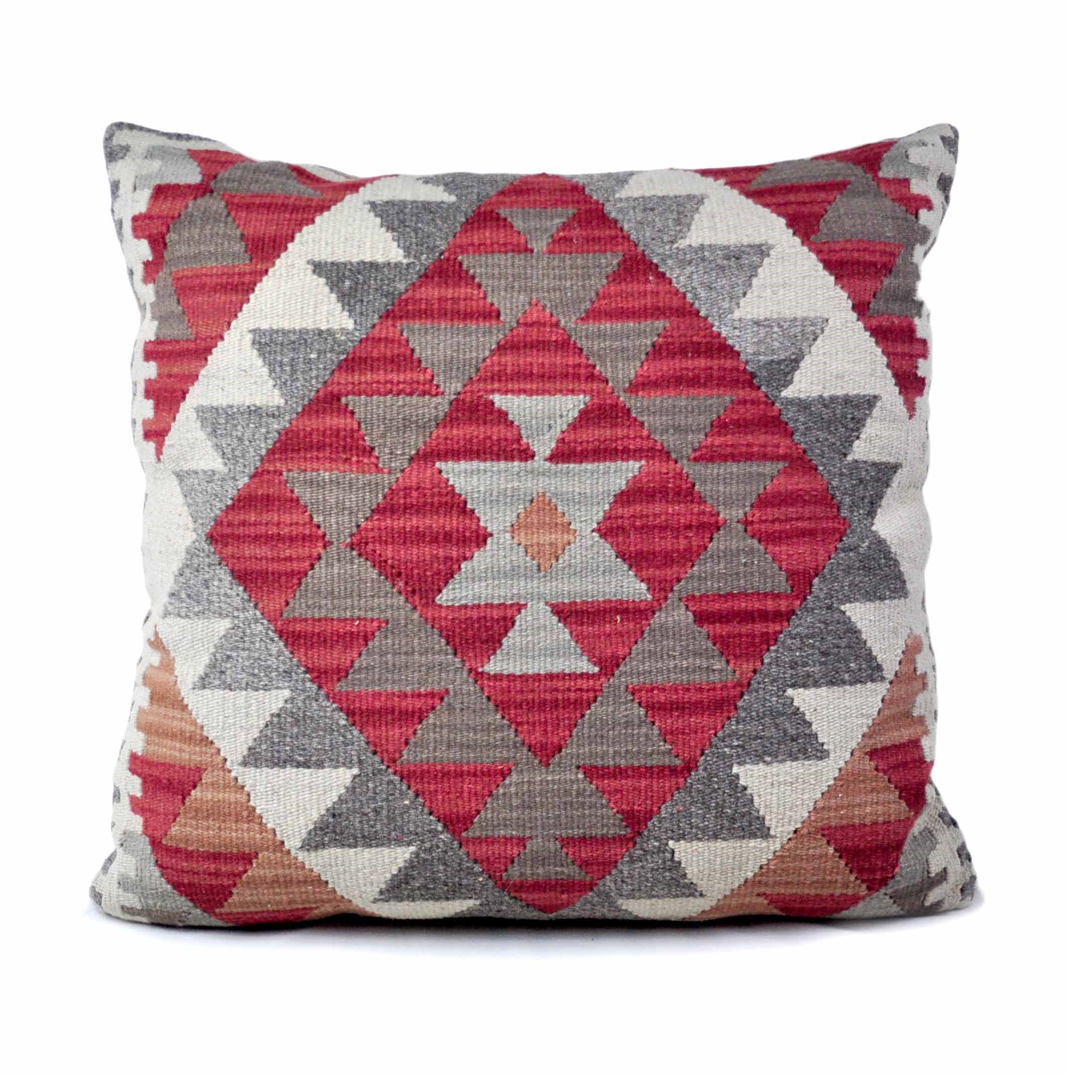 24×24 Hand-woven Wool Kilim Pillow Cover 12981037