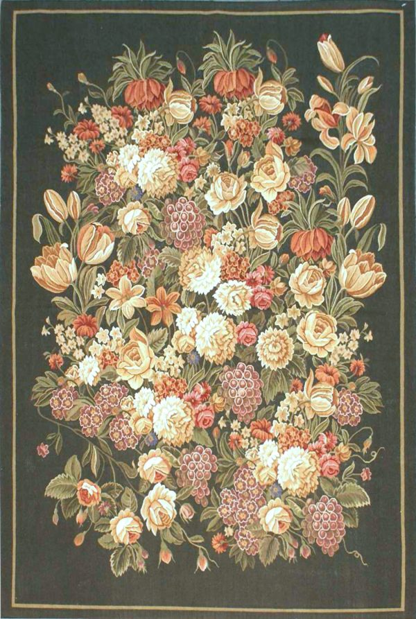 4′W x 6′H Hand-woven French Aubusson Tapestry Wall Hanging Rug 12981009