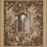 5′7″W x 6′5″H Hand-woven French Aubusson Tapestry Fruit Wall Hanging Rug 12981019